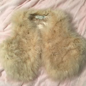 Fun and fluffy feathered vest